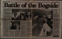 Press cutting from the News Letter with an article by Ian Starrett entitled 'Battle of the Bogside'.