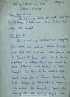 File of handwritten and typed transcripts of P95/1 and P95/3.