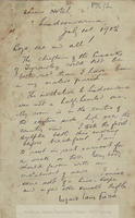 """Handwritten letter (1 p) from Lughaidh Lamh Fhada [Michael Cusack], Queens Hotel, Lisdoonvarna, County Clare, to """"Boys, one and all!"""" [his family in Dublin]."""
