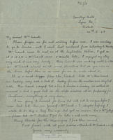 Holograph letter from Mary McGee to Mrs.Cusack