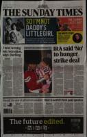 'IRA said 'No' to hunger strike deal' by Liam Clarke, press cutting from The Sunday Times
