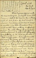 03 Letter from Joe Cleary, New York, to his father, Thomas B. Cleary, Athenry