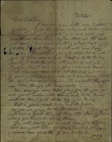 06 Letter from Jimmy Cleary while interned during the Civil War to his sister Kathleen