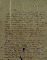 07 Letter from Jimmy Cleary to his mother while interned during the Civil War to his mother