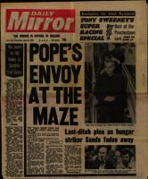 Fragment copy of the Daily Mirror
