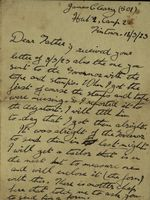 08 Letter from James Cleary, Hut 2, Camp 2, Tintown, to his father