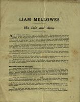 02 Pamphlet 'Liam Mellows: His Life and Aims'