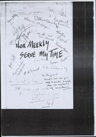 Copy frontispiece of Brian Campbell et al 'Nor Meekly Serve my Time'