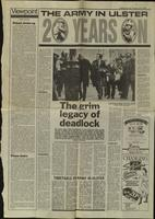 'The army in Ulster- 20 years on', press cutting from The Belfast Telegraph