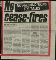 'No cease-fires', press cutting from An Phoblacht