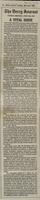 'A vital issue', press cutting from the Derry Journal