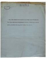Telefax from [British government] to [Sinn Féin] confirming that the main problem had been the order of events.