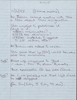 Handwritten note commenting on 'The Narrative'