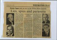 'Lies, spies and paranoia', press cutting from The Irish Times