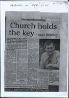 'Decommissioning Church holds the key', photocopy press cutting from the Derry Journal