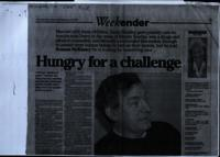'Hungry for a challenge' press cutting from The Irish News