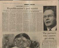 'Republicanisn's past master', press cutting from The Financial Times