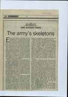 'The army's skeletons', press cutting from The Sunday Times
