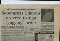 'MI5 in new security crackdown', press cutting from the Derry Journal