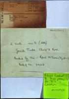 Original printed and handwritten documents illustrating contacts made by 'Colin Ferguson' ['Fred']