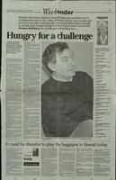 'Hungry for a challenge', press cutting from the Irish News