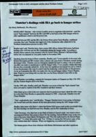 'Thatcher's dealings with IRA go back to hunger strikes', print out article from The Observer