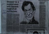 Photocopy press cutting from The Sunday Times