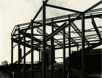 Construction Site and Framework of the Ridgeway Street Theatre