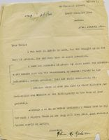 Typed letter from John McGahern
