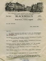 Blackwell's request for subscription renewal