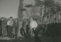Photograph of Flor Crowley road bowling.