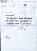 Photocopy of letter signed M.C Oatley