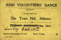 05 Ticket for Irish Volunteers Dance, Town Hall, Athenry.