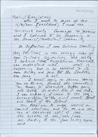 Handwritten and typescript drafts and final version of a memo by Brendan Duddy for Martin McGuinness and Gerry Adams