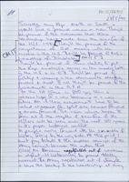File of handwritten drafts and final typescript of letter from 'June' [Brendan Duddy] to 'a chara' [Martin McGuinness]