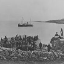 Irish Field Club Union with English friends landing at Aranmore, July 1895