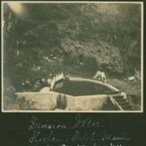 Photograph of a division weir, part of Koolau aqueduct project