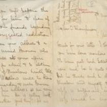Letters to M. M. O'Shaughnessy from Alexander Hill