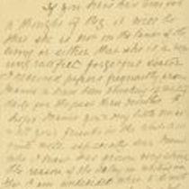 Handwritten letter to Michael M. O'Shaughnessy from his sister Margaret
