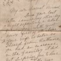 Handwritten letter to Michael M. O'Shaughnessy from his mother