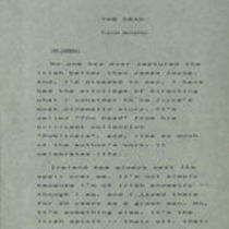 """Typescript of suggestions for narration for """"The Dead"""" trailer by John Huston"""