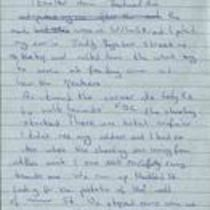 Handwritten notes [draft of letter] by [Brendan Duddy] in preparation of his Bloody Sunday Inquiry statement