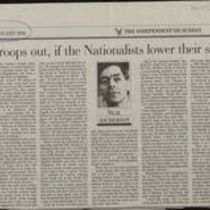 19 January 1992 Press cutting from The Independent on Sunday