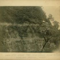 Photograph of tunnel construction in the Koolau aqueduct project
