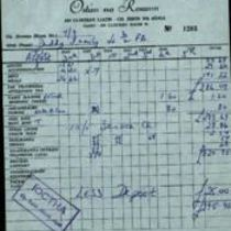Bill and receipt from the Ostán na Rosann, Dungloe, County Donegal