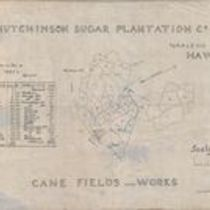 Map of the cane fields and works of the Hutchinson Sugar Plantation
