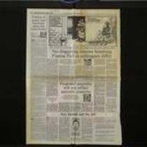 Press cutting containing two articles from The Irish Times