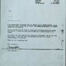 Letter signed Cahal McLoughlin, Starry Eyes Productions, to Michael Oatley