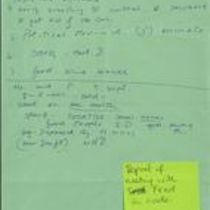 Notes dictated by Brendan Duddy with explanatory context from Éamonn Downey
