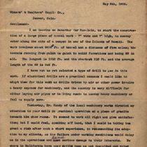 Letter from M. M. O'Shaughnessy to Miners' & Smelters' Supply Company